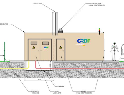 Etude de conception et d'ingénierie du premier poste de rebours de gaz naturel